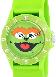 Sesame Street Unisex SW4920OS Oscar the Grouch Sport Bezel Green Slap Watch
