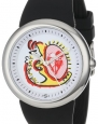 PeaceLove Unisex F36S-PL-B  Round Stainless Steel Black Silicone Strap and Miripolsky Art Dial Watch
