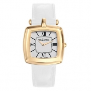 Saint Honore Women's 721060 3AR Audacy Paris Gold PVD Stainless Steel Genuine Leather Watch