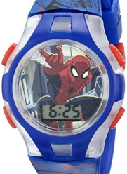Marvel Comics Kids' SPMKD581FL Digital Display Quartz Blue Watch