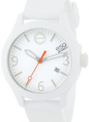 ESQ Movado Unisex 07301431 ESQ ONE  White Silicone/White Round Stainless Steel Watch