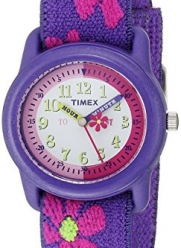 Timex Kids' T89022 Time Teacher Floral Elastic Strap Watch
