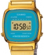 Casio Women's LA670WGA-2 Gold Stainless-Steel Quartz Watch with Digital Dial