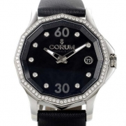 Corum Admiral's Cup Legend 082.101.47/OF41 PN11 38mm Diamonds Automatic Stainless Steel Case Black Satin Anti-Reflective Sapphire Women's Watch