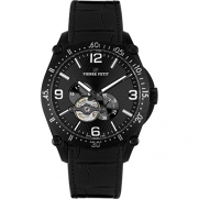 Pierre Petit Men's P-803A Serie Le Mans Automatic Skeleton Genuine Leather Watch