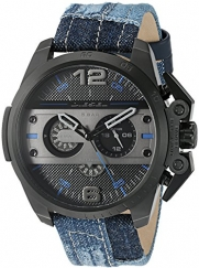 Diesel Men's 'Ironside' Quartz Stainless Steel and Cloth Automatic Watch, Color:Blue (Model: DZ4397)