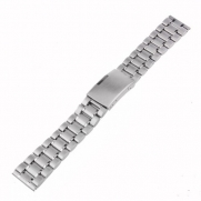 Neewer 22mm Stainless Steel Bracelet Watch Band Strap with Flat Ends -Silver