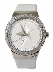 THIERRY MUGLER - White & Steel Crystal-Studded Watch - 4714401