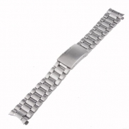 Neewer 22mm Stainless Steel Bracelet Watch Band Strap with Curved Ends -Silver