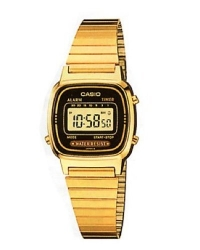 Casio Women's LA670WGA-1DF Daily Alarm Digital Gold-tone Watch