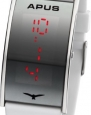 APUS Gamma Silver-White-Red LED Watch Very Light