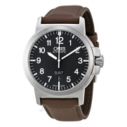 Oris BC 3 Black Dial Brown Leather Mens Watch 735-7641-4164LS