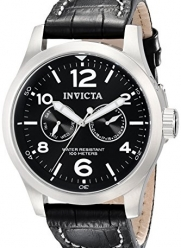 Invicta II Men's 0764 Stainless Steel Watch with Leather Band