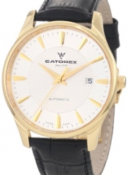 Catorex Men's 134.6.8166.451 Attitude Automatic Gold Plated Crocodile Patterned Watch