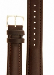 Men's Genuine Italian Leather Watchband Chronograph Style Brown 20mm Long Watch Band