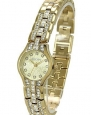 Lady Elgin Petite Watch Gold Tone Crystal Case 22mm