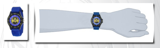 Batman kids'  blue  time teacher watch