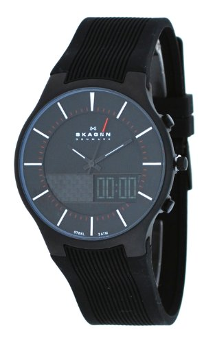 skagen 852xlsrm s black ip stainless steel silicone