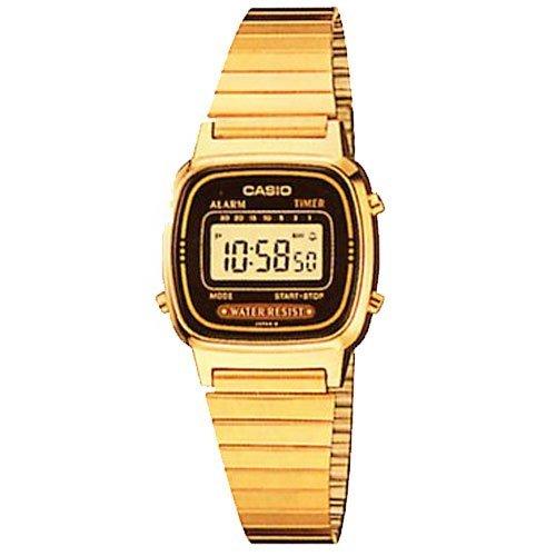 casio gold tone digital alarm chronograph