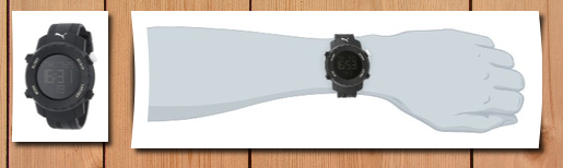 PUMA Men's PU911031003 Sharp Digital Watch, PUMA, PUMA ...