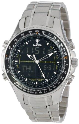 Sartego Men's SNT116 Barcelona Titanium Watch with Link ...