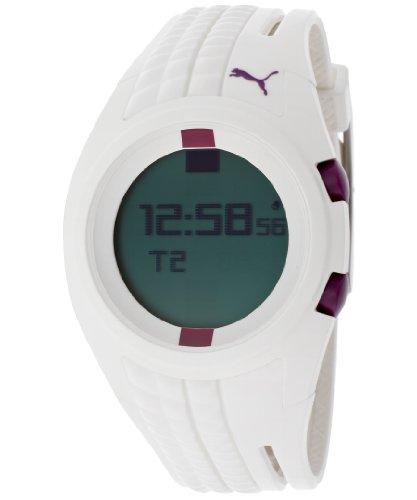 PUMA Women's PU910482001 Shift White Digital Watch, PUMA ...