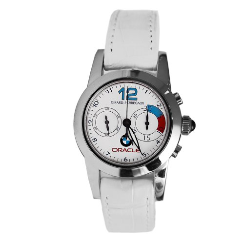 Girard perregaux oracle 80440 11 712 cb7a 32mm automatic stainless steel case white leather anti for Anti reflective watches