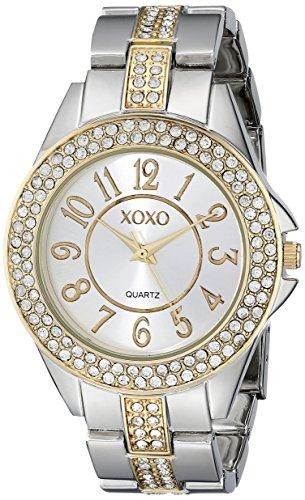 Xoxo women 39 s xo5462 rhinestone accented two tone watch xoxo xoxo xo5462 for Watches xoxo