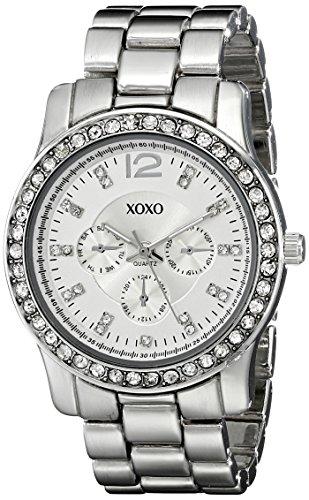Xoxo women 39 s xo5505 silver tone rhinestones bezel bracelet watch xoxo xoxo xo5505 for Watches xoxo