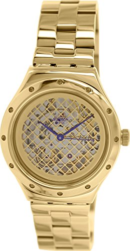 swatch s irony yag100g gold stainless steel swiss